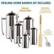 Frieling USA Double Wall Stainless Steel French Press Coffee Maker With Dual Screen EXCLUSIVE HOME