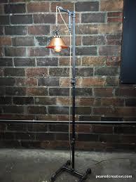 industrial floor l copper shade edison bulb industrial hommum