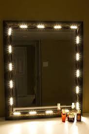 Diy Vanity Desk With Lights by Bathroom Mirror With Led Lights Marvelous Mirrored Vanity Desk