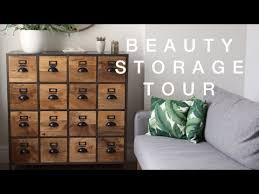 Vivianna Does Makeup Ikea Desk by My Beauty Storage Tour Viviannadoesmakeup Youtube