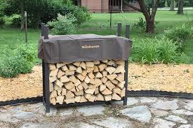 Amazon The Woodhaven 4 Foot Brown Outdoor Firewood Log Rack
