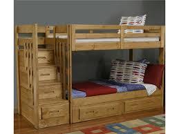 Woodcrest Bunk Beds by Coronado Ponderosa Stair Bunk Bed Vandrie Home Furnishings