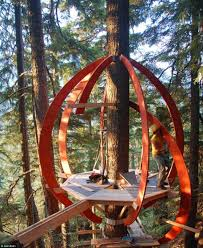 100 Whistler Tree House Carpenter Builds Incredible Eggshaped Treehouse Hidden From