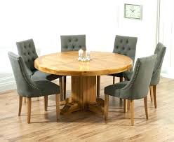 Oak Table And Chairs Solid Round Pedestal Dining With Pacific Fabric Kitchen Room Sets Wood Made
