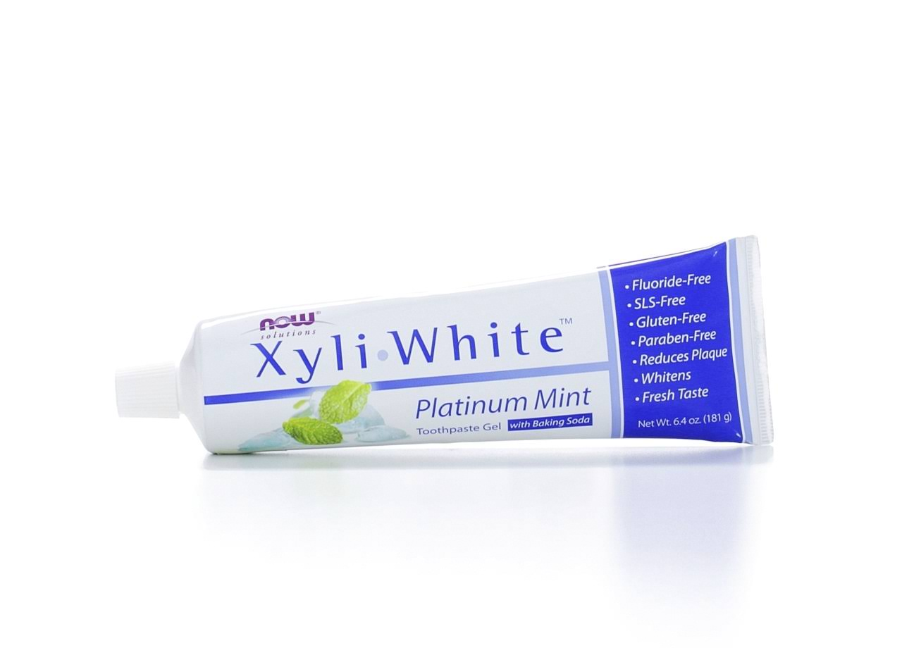 Now Foods Xyli White Toothpaste Gel - Platinum Mint, 181g