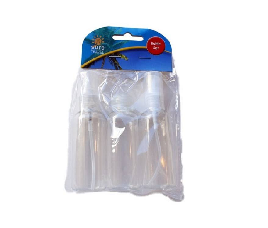 Sure Travel Bottle Set - 3 x 50ml Bottles