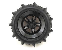 100 Truck Paddle Tires Traxxas WSCT Split Spoke Rear Wheel 2 TRA5891