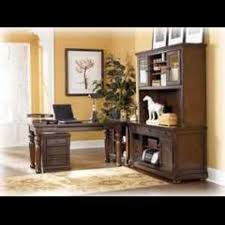 Office Furniture Ashley Porter Desk And Tall Credenza