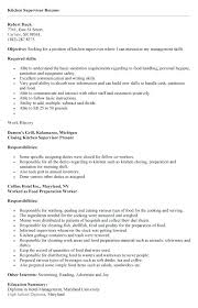 Sample Kitchen Supervisor Resume Hand Best Collection Cover Letter Examples