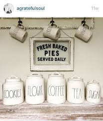 Am De Ca Agratefulsoul Posted Her Collection From Rae Dunn Of Gorgeous Clay Jars For The Kitchen Marshalls Homesense Homegoods Winners