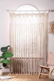 makramee vorhang 215 x 110 cm zulema