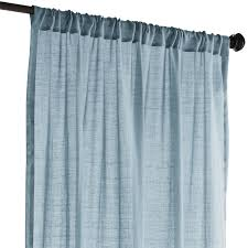 Pier One Curtain Rods by Quinn Sheer Curtain Smoke Blue Pier 1 Imports Drapes