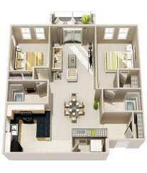 104 Two Bedroom Apartment Design 50 2 House Plans Architecture