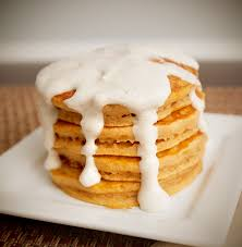 Krusteaz Pumpkin Pancakes by Pumpkin Pie Pancakes With Cream Cheese Drizzle Giveaway