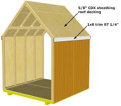 gable storage shed roof installation