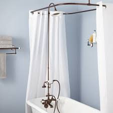 Curtain Rod Set Screws by English Shower Conversion Kit With Hand Shower Porcelain Shower