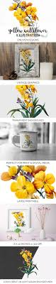 100 Wallflower Designs Florals Vintage Yellow