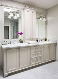 Bathroom Vanity With Tower Pictures by Master Bath Cabinets Lots Of Storage Including Tower Between