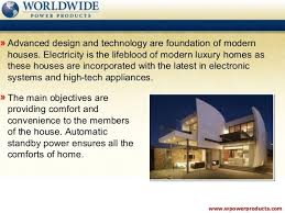 104 Modern Homes Worldwide Residential Generators Standby Power For Luxury