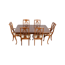 89% OFF - American Drew American Drew Dining Table Set / Tables American Drew Queen Anne Ding Table W 12 Chairs Credenza Grantham Hall 7 Piece And Chair Set Ad Modern Synergy Cherry Grove Antique Oval Room Amazoncom Park Studio Weathered Taupe 2 9 Cozy Idea To Jessica Mcclintock Mcclintock Home Romance Rectangular Leg Tribecca 091761 Square Have To Have It Grand Isle 5 Pc Round Cherry Pieces Used 6 Leaf