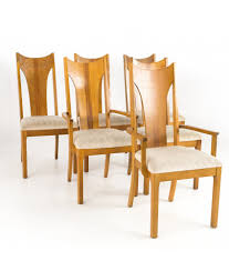 Broyhill Brasilia Style Singer Mid Century Oak Highback Dining Chairs - Set  Of 6 French Highback Ding Chairs Beautifully Designed Louis Xv High Back Ding Chairs Beech Wood Late 19th Century Sku 9622 Whtear Reproduction Fniture Arden Chair Skyline John Lewis Partners Tropez Set Of Six Mid Modern Walnut Dramatic 5 Kamron Tufted Upholstered Faye Grey Faux Leather Pair With Chrome Legs Lssbought Fabric 2 Gray