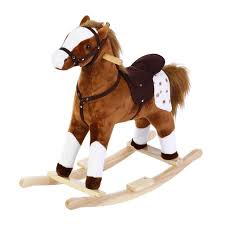Amazon.com: GOTOTOP Children's Animal Rocking Horse, Plush ... Lovely Vintage Wooden Rocking Horse Sanetwebsite Restored Wood Rocking Horse Toy Chair Isolated Clipping Path Stock Painted Ponies Competitors Revenue And Employees Owler Rockin Rider Maverick Spring Chair Rocard This Is A Hand Crafted Made Out Of Pine Built Childs Personalized Rockers Childrens Custom Large White Spindle Rocker Nursery Fniture Child Children Spinwhi Fantasy Fields Knights Dragon Themed Kids Lady Bug 2 In 1 Baby Ride On Animal