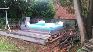Reclaimed Pallet Outdoor Platform Pool