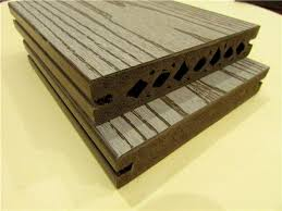 Engineered Wood Deck WPC Composite Decking Plastic Floor Profiles