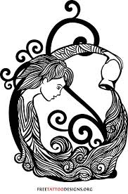 Aquarius Water Bearer Tattoo Design