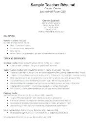 Resume Format Of Teacher For Freshers Doc Download Sample In Cover Letter Resumes