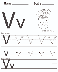 Letter V Worksheets Free Worksheets Library