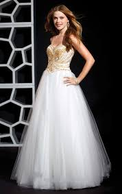 aesthetic gold formal dresses for the beautiful appearance white