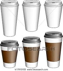 Clipart Of Coffee To Go Cups K17913103