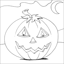 Scary Halloween Pumpkin Coloring Pages by Scary Halloween Coloring Pages
