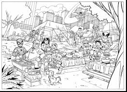 Awesome Marvel Super Hero Squad Coloring Pages With Heroes And Superhero