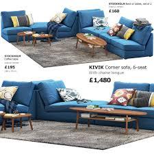 ikea kivik corner modular sofa 3d modell in sofa 3dexport