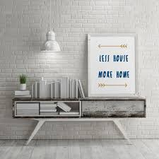 100 Wall Less House Home Quote Print Boho Gallery Printable Art Apartment Decor Minimalist Typography Art New Home Gift Warming Gift Digital Download