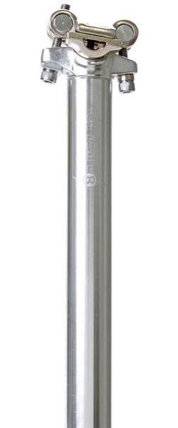 Origin8 Pro-Fit Alloy Seat Post - Silver, 25.4 x 400mm