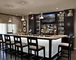 AMW Design Studio Bloomfield Home Basement Bar Idea