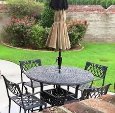 Cast Aluminum Outdoor Sets by 5 Pc Set Cast Aluminum Outdoor Furniture Patio Table U0026 4 Chairs