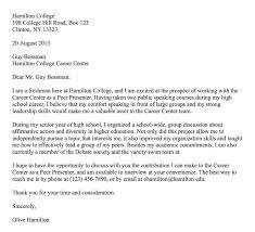 Cover Letters For On Campus Employment