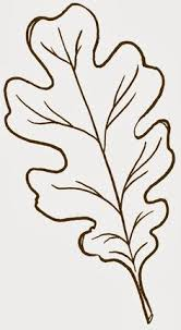 fall leaf template Oak Leaf Outline clip art vector clip art online royalty free cats Pinterest