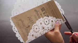 How To Make Doily Invitations A Diy Rustic Wedding Invitation