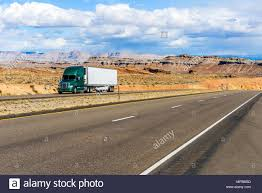 100 Truck Driving Desert Highway A Semitrailer Truck Driving On Interstate Highway