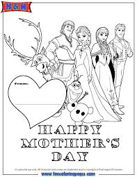 Mothers Day Wishes From Frozen Coloring Page