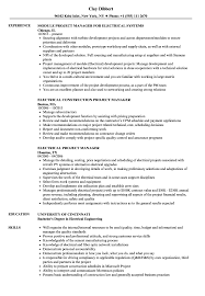Download Electrical Project Manager Resume Sample As Image File