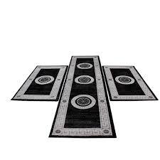 bettumrandung eleysa grau hochwertig teppich teppiche neu