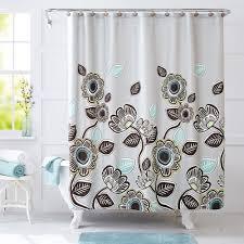 Teal And Brown Curtains Walmart by Better Homes U0026gardens Bhg Shower Curtain Walmart Com