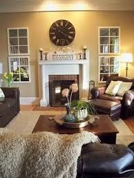 cozy living room brown couch decor ladder winter decor our