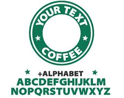 Starbucks Svg Custom Logo Template Coffee Circle File For Cricut Silhouette Files